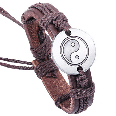 Anklet / Leather Bracelet / Bracelet - Party, Work, Casual Bracelet Brown For Gift / Valentine