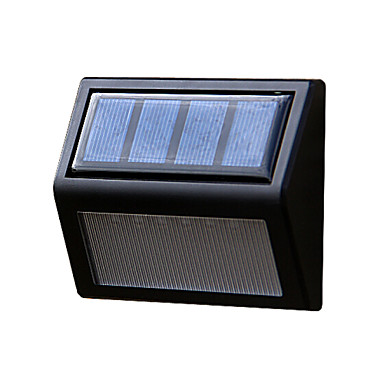כוח פנל סולארי 6 נוריות קיר לובי גדר מסלול אור בבית בחצר מדרגת מנורת גינה חיצונית הובילה תאורה