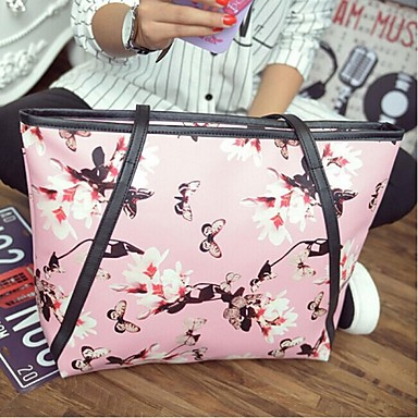 Women Bags All Seasons PU Shoulder Bag for Shopping Casual Outdoor Office & Career White Black Yellow Blue Blushing Pink