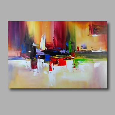 voordelige Olieverfschilderijen-Hang-geschilderd olieverfschilderij Handgeschilderde - Abstract Modern Inclusief Inner Frame / Rolled Canvas