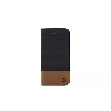 Kompatibilitás iPhone X iPhone 8 iPhone 5 tok tokok Pénztárca Kártyatartó Állvánnyal Flip Teljes védelem Case Tömör szín Kemény Műbőr Bőr