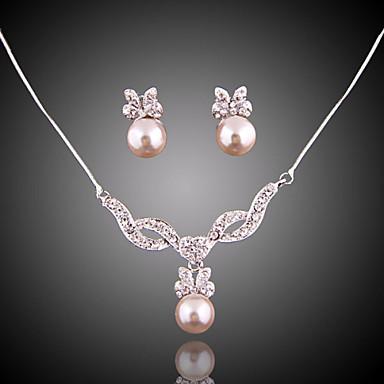 Pentru femei Set bijuterii Imitație de Perle Elegant, de Mireasă Include Cercei Picătură Coliere cu Pandativ Pentru Nuntă Petrecere Ocazie specială Aniversare Zi de Naștere Logodnă / Cadou / Zilnic