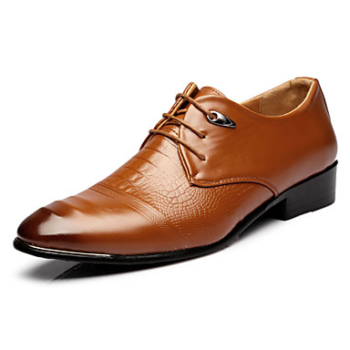 Herren Schuhe Künstliche Mikrofaser Polyurethan Frühling Herbst Komfort Leuchtende Sohlen formale Schuhe Outdoor Schnürsenkel Für