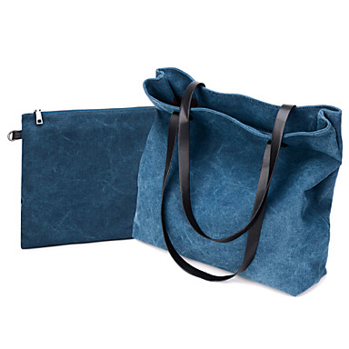 Women Bags Canvas Shoulder Bag for Shopping Casual Outdoor Fall Black Gray Coffee Blue