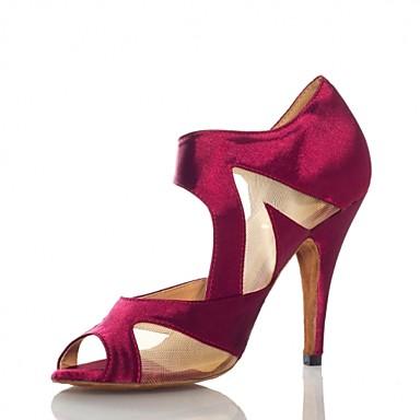 Sapatos de Dança(Preto Púrpura) -Feminino-Não Personalizável-Salsa