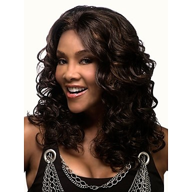 Hot Sale  African Women Lady Synthetic Blend Color Hair Wave  Wig