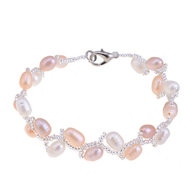Women's Strand Bracelet Unique Design Fashion Pearl Imitation Pearl Pink Pearl Others Jewelry Party Daily Casual Costume Jewelry
