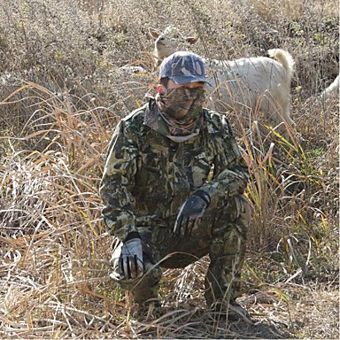 Camouflage Hunting Suit , Camo Jacket Coat With Trousers For Hunting & Fishing(Jacket + Trousers + Baseball Cap)