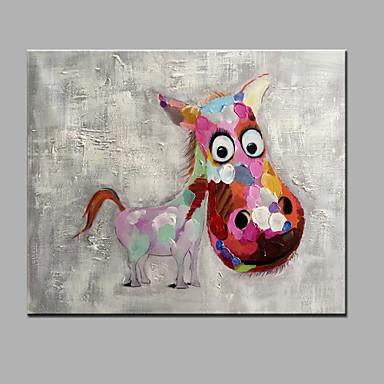 Kézzel festett Állatok Vízszintes, Modern Vászon Hang festett olajfestmény lakberendezési Egy elem
