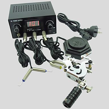 Güç kaynağı anahtarı ile basekey acemi 1 çelik makine Mini dövme seti k16