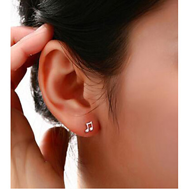 Stud Earrings Silver Plated Simulated Diamond Jewelry Wedding Party Daily Casual 2pcs