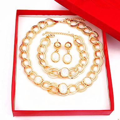 Wedding Party Rhinestone Alloy Earrings Necklaces Bracelets & Bangles