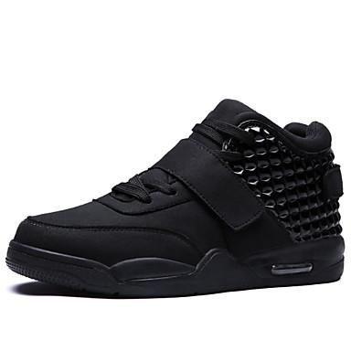 Homens sapatos Flanelado Primavera / Verão / Outono Conforto Tênis Caminhada Branco / Preto / Vermelho
