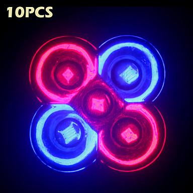 5 W Voksende lyspære 5 LED perler Rød / Blå 85-265 V / 10 stk. / RoHs / CE / CCC