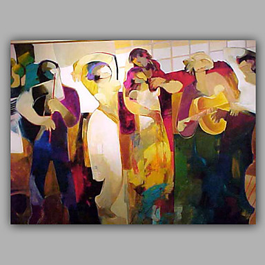Oil Painting Hand Painted - People Modern Canvas