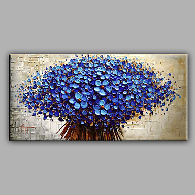 cheap Wall Art-Oil Painting Hand Painted - Still Life Modern With Stretched Frame / Stretched Canvas