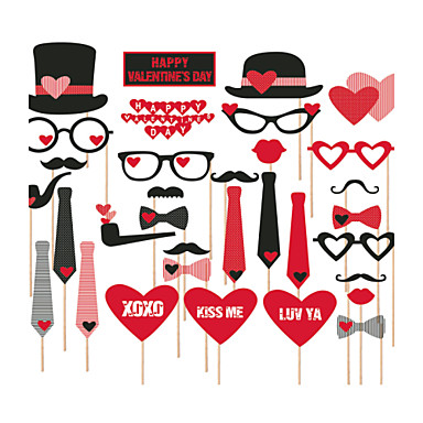 Lover's 27 PCS Paper Photo Props for Valentine's Day Wedding Decoration