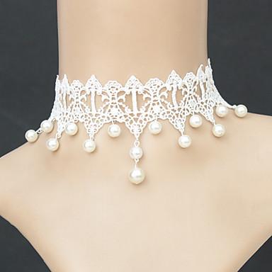 Women's Shape Fashion Choker Necklace Pendant Necklace Pearl Necklace Gothic Jewelry Pearl Lace Choker Necklace Pendant Necklace Pearl