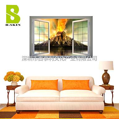 풍경 모양 벽 스티커 3D 월 스티커 데코레이티브 월 스티커 자료 이동가능 홈 장식 벽 데칼
