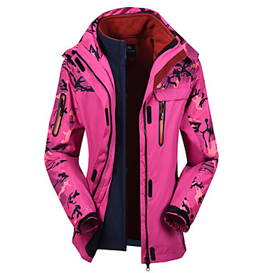 Women's Hiking Jacket Outdoor Winter Waterproof Thermal / Warm Rain-Proof Detachable Cap Top Snowsports Downhill Snowboarding