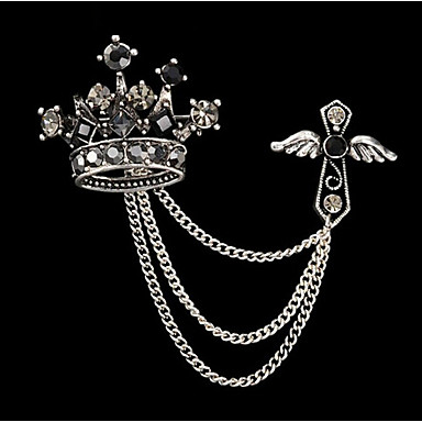jóia nova moda retro broche de strass chegada coroa imperical