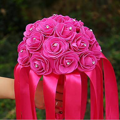 Esküvői virágok Csokrok Esküvő Elasztikus szatén Szatén 8,66