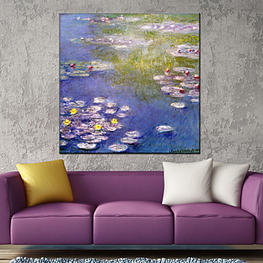 Oil Painting Hand Painted - Landscape European Style Modern Canvas