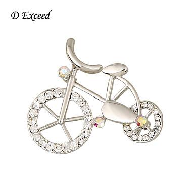 d exceder bicicleta retro estilo broches forma das mulheres e broches broches linda pino da menina 2016 nova chegada