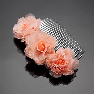 الشيفون سبيكة الشعر أمشاط خوذة الأنيقة الكلاسيكية الأنثوية نمط