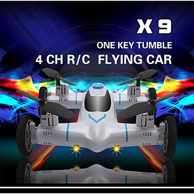 billige Fjernstyrte quadcoptere og multirotorer-RC Drone SYMA X9 4 Kanaler 6 Akse 2.4G Uten kamera Fjernstyrt quadkopter Flyvning Med 360 Graders Flipp