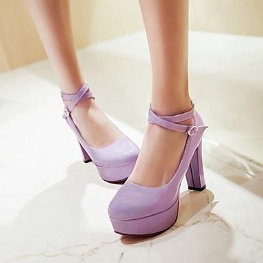 Violet Printemps Bottier Chaussures Noir Plateau Talon Eté Habillé Boucle 04790577 Verni Femme Cuir Blanc PBHxqwRtqU