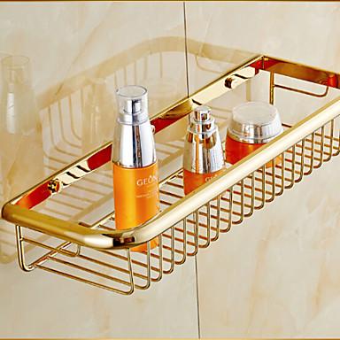 Hylle til badeværelset Neoklassisk Messing 1 stk - Hotell bad
