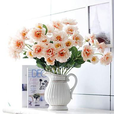 Ág Poliészter Bazsarózsák Asztali virág Művirágok