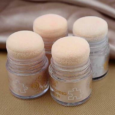 1 Pudder Tørr Pudder Bleking Olje-kontroll Ujevn hudtone Naturlig Poreredusering Pustende Brighte Ansikt