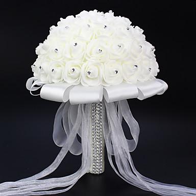 Esküvői virágok Csokrok Esküvő Elasztikus szatén Hab 7,48