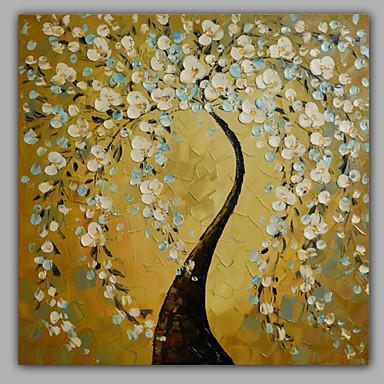 El-Boyalı Çiçek/Botanik Kare,Modern Tek Panelli Kanvas Hang-Boyalı Yağlıboya Resim For Ev dekorasyonu