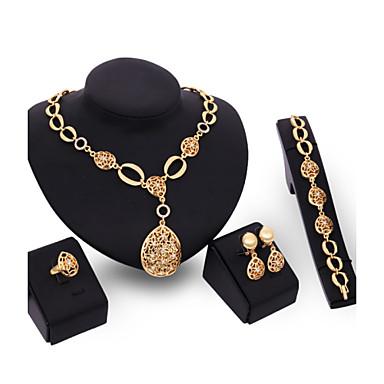 للمرأة فراغ خارجي مجموعة مجوهرات - بوهيميان, بوهو تتضمن اطقم ذهب و مجوهرات ذهبي من أجل يوميا / الحلقات / القلائد