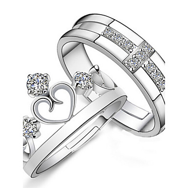 Men's Women's Couple Rings Fashion Sterling Silver Jewelry Wedding Party Daily