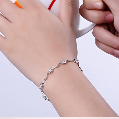 Dame Kjeder & Lenkearmbånd Vedhend Armband - Sølv Armbånd Hvit / Lilla Til Julegaver Bryllup Fest