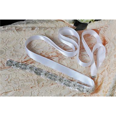 Saten Düğün Parti / Gece Günlük Kuşak With Kristal Boncuklama İnci Aplik Nakış Kadın's Kuşaklar