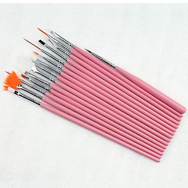 15pcs cepillo del arte del clavo kits de pintura pluma