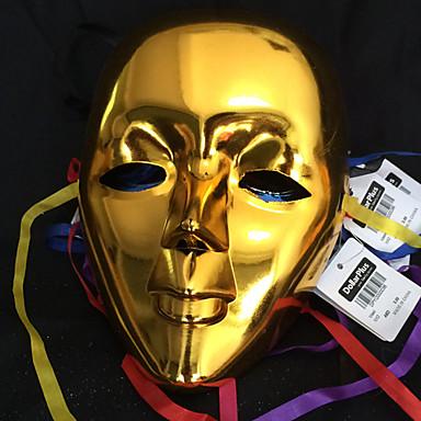 Karneval Maske Herre Dame Halloween Karneval Festival / høytid Halloween-kostymer Drakter Tilfeldig Farge