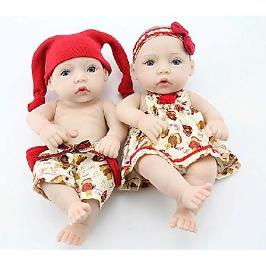 preiswerte Puppen-NPK DOLL Lebensechte Puppe Baby Ganzkörper Silikon Silikon Vinyl - Neugeborenes lebensecht Niedlich Handgefertigt Kindersicherung Non Toxic Kinder Mädchen Spielzeuge Geschenk / lieblich / ASTM