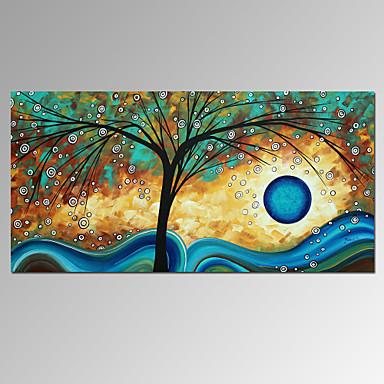 Kézzel festett Absztrakt Vízszintes, Modern Vászon Hang festett olajfestmény lakberendezési Egy elem