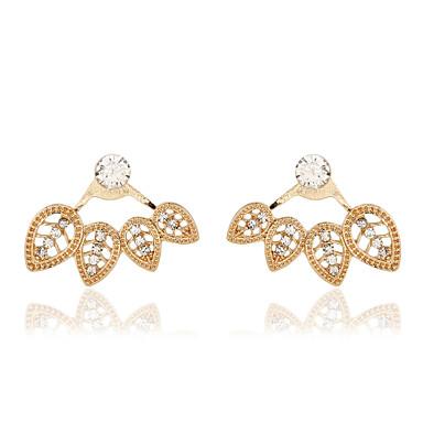 Drop Earrings Crystal Pearl Resin Rhinestone 18K gold Simulated Diamond Alloy Fashion Gold Silver Jewelry 2pcs