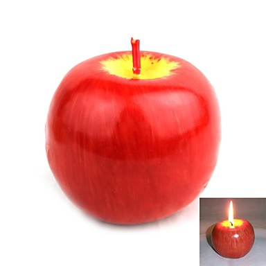 Simulation Apple Candle for Christmas The New Year Size L