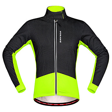 WOSAWE Uzun Kollu Bisiklet Ceketi - Kırmızı siyah Siyah/Yeşil Bisiklet Forma, Sıcak Tutma