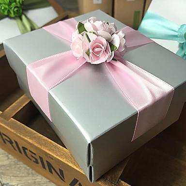 6 Darab / készlet Favor Holder-Kocka alakú Kártyapapír Ajándékdobozok Nem személyre szabott