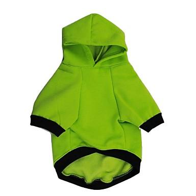 Hund Kapuzenshirts Hundekleidung Buchstabe & Nummer Weiß Grün Baumwolle Kostüm Für Haustiere Herrn Damen Lässig / Alltäglich