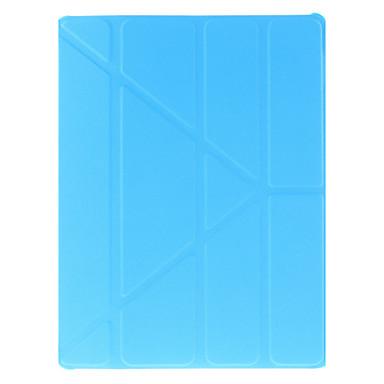 Pouzdro Uyumluluk Apple Satandlı / Origami Tam Kaplama Kılıf Solid PU Deri için iPad 4/3/2 / iPad (2017)